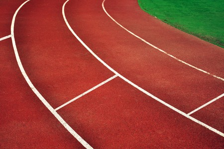 racetrack: Racetrack in stadium with an artificial covering