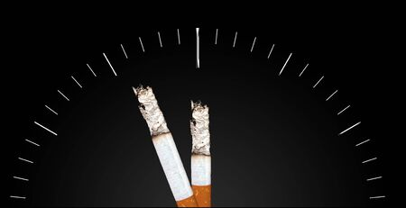 decease: Two cigarettes pointing a