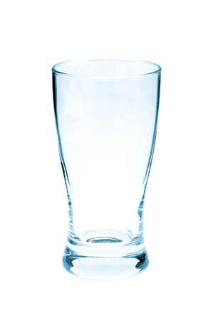 empty glass: Empty drinking glass on awhite background Stock Photo