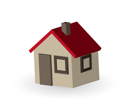 Beautiful simple small 3d house illustration. Stock Vector - 7507036