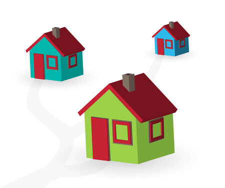 Beautiful simple small 3d house illustration. Stock Vector - 7507060