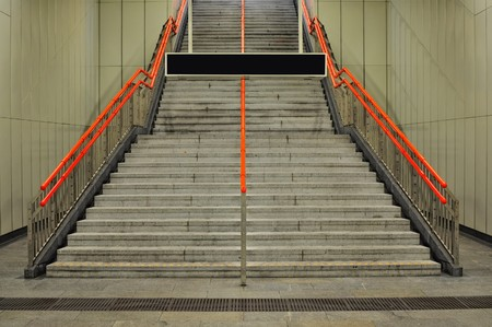 Subway station staircase  photo