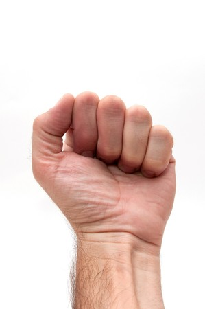 large male fist over a white background Stock Photo - 7748265