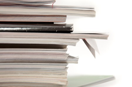 A stack of magazines, close up image Stock Photo - 7854579