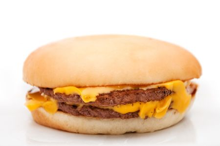 A tasty hamburger with cheese. photo