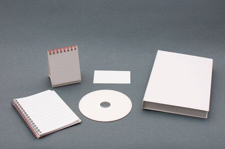 Usual business supplies used for corporate branding photo