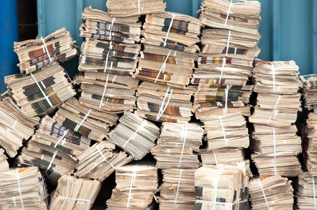 Huge stack of newspapers in the backyard Stock Photo - 7957966