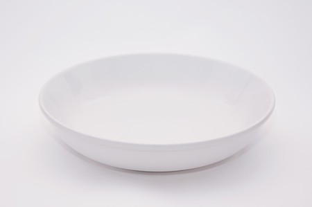 White empty plate over a white background. Stock Photo - 8022908