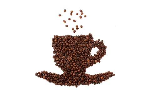 flavored: Beautiful brown coffee beans, close up image Stock Photo