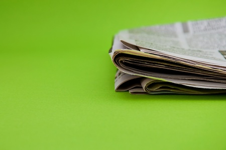 stock news: Folded newspaper, close up image Stock Photo