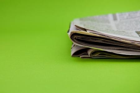 stock news: Folded newspaper, close up image Stock Photo