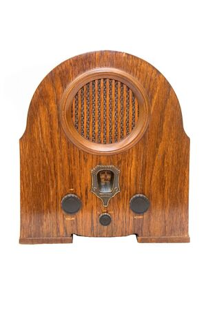 Old retro radio, image is isolated on white background photo
