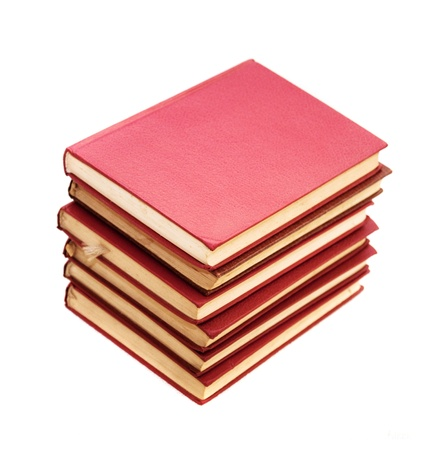 Stack of books, image is taken over a white background. Stock Photo - 8497691