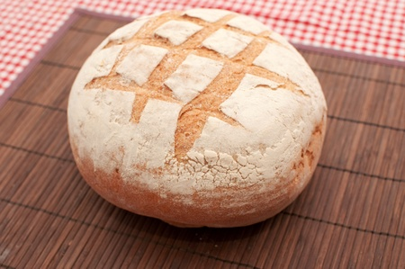 Buckwheat bread loaf on a kitchen table Stock Photo - 8799067