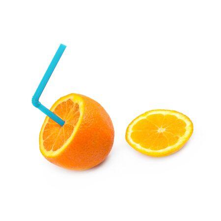 florida citrus: Close up of a slice of orange fruit