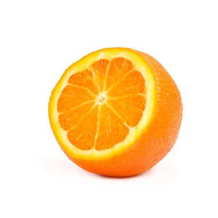 Close up of a slice of orange fruit photo