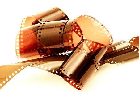 35: Cerrar una imagen de una tira de pel�cula negativa de 35 mm antiguo.