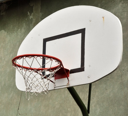 basketball hoop and a cage with laeves, sports background. Stock Photo - 9701713