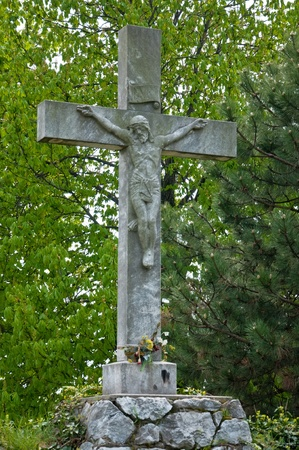 A statue of Jesus Christ crucified photo