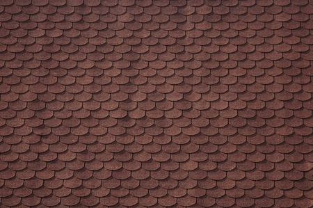 shingle: Seamless background, architectural style asphalt roofing shingles. Stock Photo