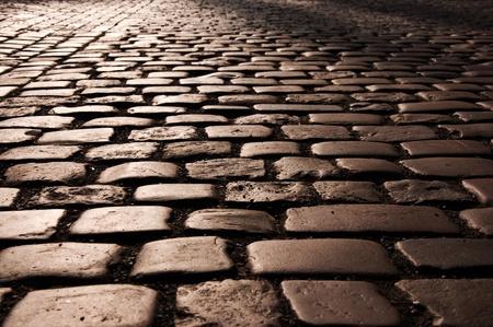 cobble: Modello di pietra strada Cobble da Praga.