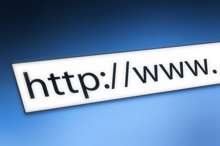 website window: Internet concept: a web browser address bar.