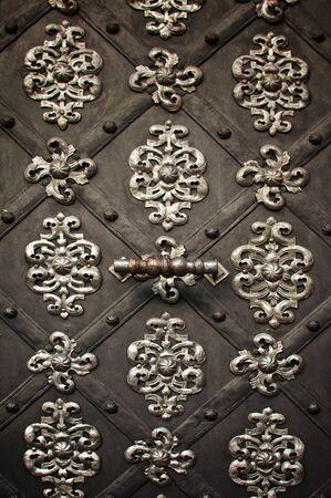 Metal ornament on dark meatl background Stock Photo - 11126983