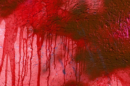 Red blood stained wall, grungy abstract background photo