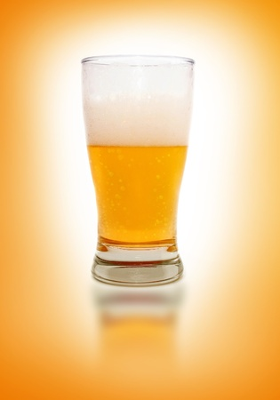 Close up image of beer glasses. photo
