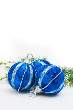 Christmas tree balls, beautiful New year decoration. photo