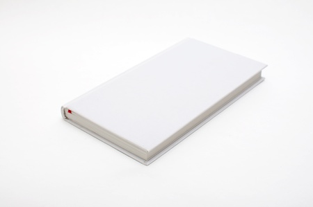 Blank book with white cover on white background. Stock Photo - 11596989