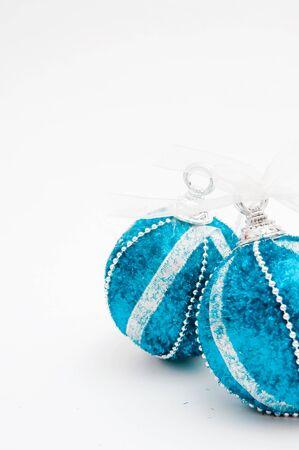 Christmas tree balls, beautiful New year decoration. photo