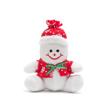 Smiling snowman toy dressed in scarf and cap Stock Photo - 11597047