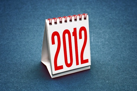 Small table calendar for the year 2012. photo