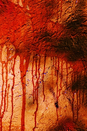 bloody: Red blood stained wall, grungy abstract background