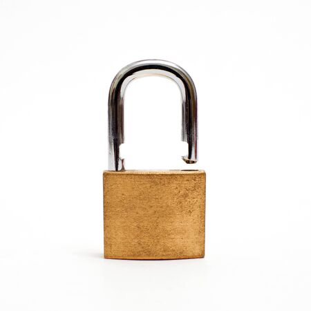 Metal padlock, image is taken over a white background Stock Photo - 11808118