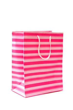Shopping paper bag, image is isolated over a white background. photo