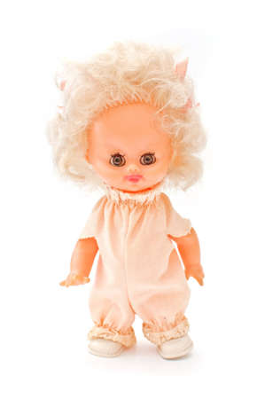 baby doll: Vintage toy doll, close up image.