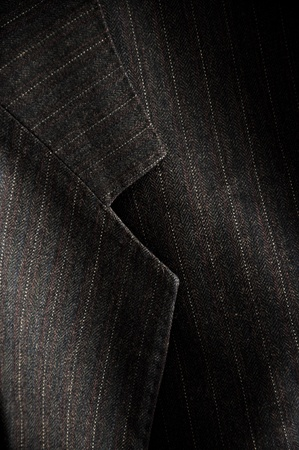 dress suit: Close up detail of a gray business suit