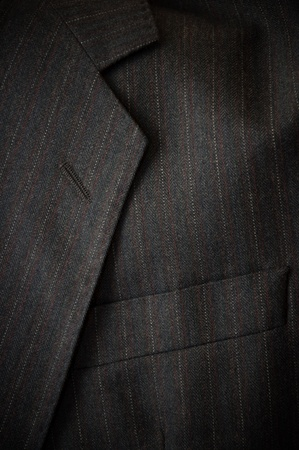 Close up detail of a gray business suit photo