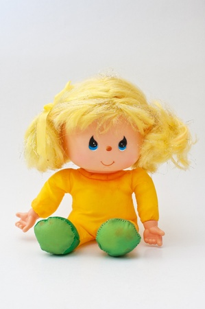 Vintage toy doll, close up image  photo
