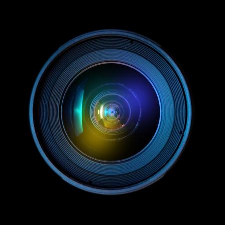 objetivo: Cierre de la imagen de una lente de gran DSLR Foto de archivo