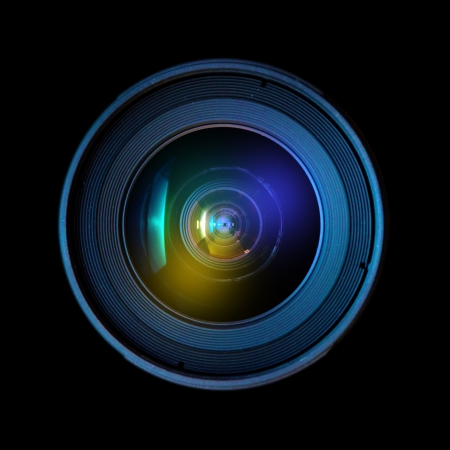 wide angle lens: Close up image of a wide DSLR lens