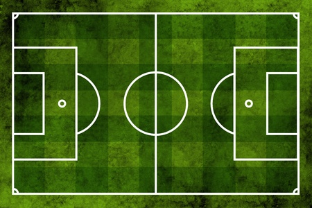Grunge textured illustration of a football pitch or soccer field