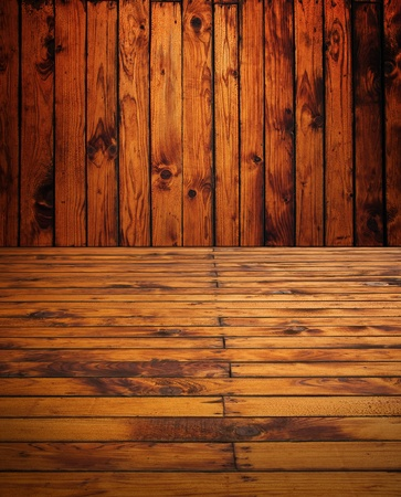 Vintage grunge wooden room, image can be used as a background Stock Photo - 13223423