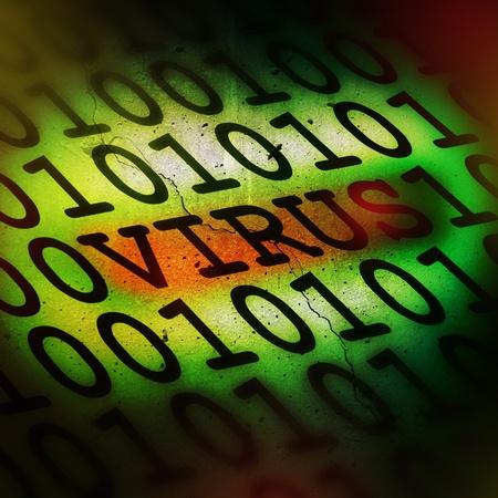 computer virus: Virus inform�tico de detecci�n de concepto Foto de archivo