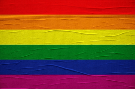 rainbow print: LGBT flag, gay pride colorful printed flag
