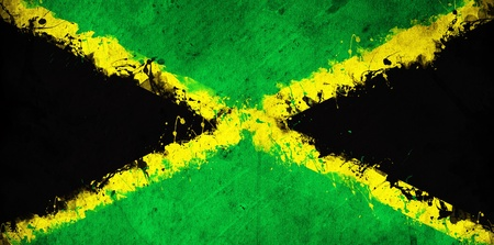 jamaican: Grunge Jamaican flag, image is overlaying a detailed grungy texture