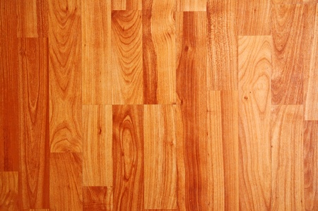 Close up detail of a beautiful wooden brown laminated floor photo
