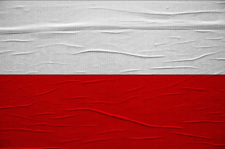 Grunge Polish flag, image is overlaying a detailed grungy texture photo